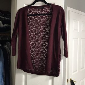 The Limited, size L, lace cardigan.